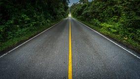 漫长的路在热带国家公园 免版税库存照片