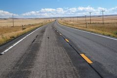 路在蒙大拿,美国 库存图片