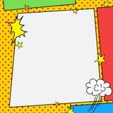 漫画书样式框架 免版税库存照片