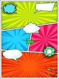 漫画书样式背景模板,流行艺术海报 皇族释放例证