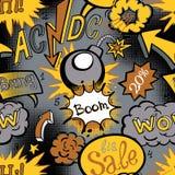 漫画书爆炸样式,无缝传染媒介的例证 免版税库存图片