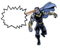 漫画书说明了有激光束的难以置信的人 向量例证