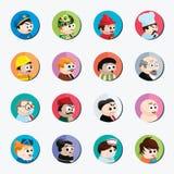 漫画人物儿童五颜六色的图象例证 库存照片