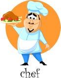 漫画人物厨师 免版税库存图片
