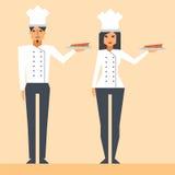 漫画人物厨师 免版税库存照片