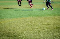 漫画人物球员足球体育运动 免版税图库摄影