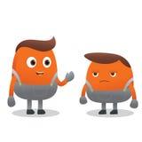 漫画人物的橙色男孩 免版税图库摄影