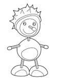 漫画人物-着色页-栗子生物 库存照片