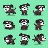 漫画人物黑色诺福克狗狗姿势 库存例证