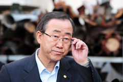 潘基文-联合国的秘书长 免版税库存照片