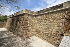 潘帕塔尔堡垒有蓝天的在玛格丽塔岛,委内瑞拉 免版税库存图片