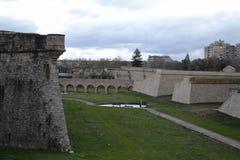 潘普洛纳的墙壁 库存照片