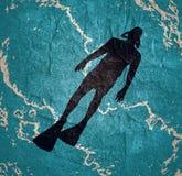 潜水体育概念 库存照片