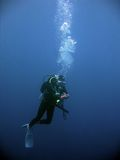 潜水员安全性水下水肺的终止 库存照片