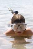 潜水员年轻人 免版税图库摄影