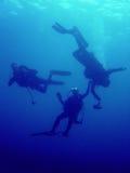 潜水员抢救 图库摄影