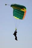 潜水员着陆剪影天空 免版税图库摄影