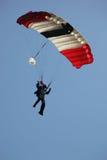 潜水员着陆天空 库存图片
