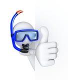 潜水员赞许 免版税库存图片