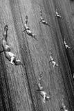 潜水员迪拜购物中心垂直 免版税图库摄影