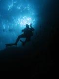 潜水员ok 免版税库存照片