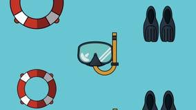 潜水用具背景HD动画 皇族释放例证