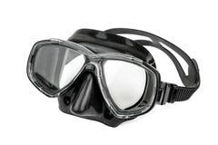 潜水的黑面具 库存照片