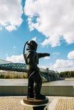 潜水者灯塔雕塑  莫斯科俄国 免版税库存图片