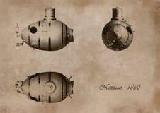 潜水艇 皇族释放例证