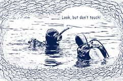 潜水规则 库存照片