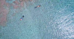 潜航在海4k的夫妇 影视素材