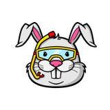 潜航的兔子 库存例证