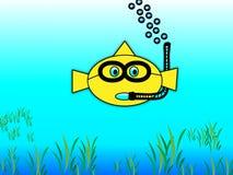 潜航的金鱼 库存图片