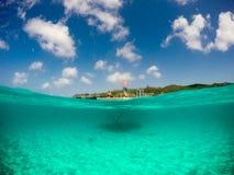 潜航的Knip海滩 免版税库存图片