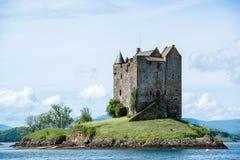 潜随猎物者城堡在苏格兰 免版税库存照片