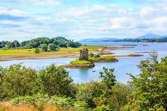 潜随猎物者城堡,苏格兰 免版税库存照片