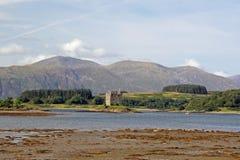 潜随猎物者城堡,苏格兰 免版税库存图片