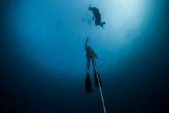 潜水员释放 图库摄影
