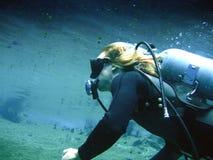 潜水员水肺 图库摄影