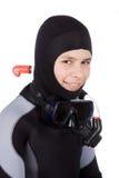 潜水员年轻人 图库摄影