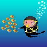 潜水员 库存例证