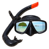 潜水屏蔽和废气管 免版税库存照片