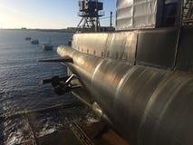潜水艇:一个看法到海里 免版税库存照片