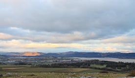 潮汐出海口英国Cumbria 库存图片