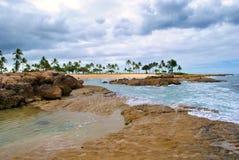潮汐夏威夷的池 库存照片