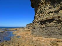 潮汐峭壁的平台 免版税库存照片