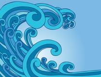 潮汐海啸通知 向量例证