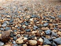潮湿小卵石,岩石,石头接近的领域 图库摄影