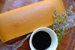 潮湿自创简单的黄油的蛋糕软和 库存图片