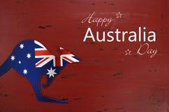 澳大利亚与样品文本问候的天背景 免版税库存图片